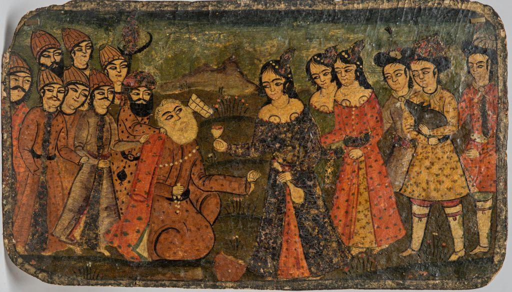 Шейх Санʿан. Иран, вторая половина XIX в. Папье-маше, темперные краски, живопись, лак © ГМВ
