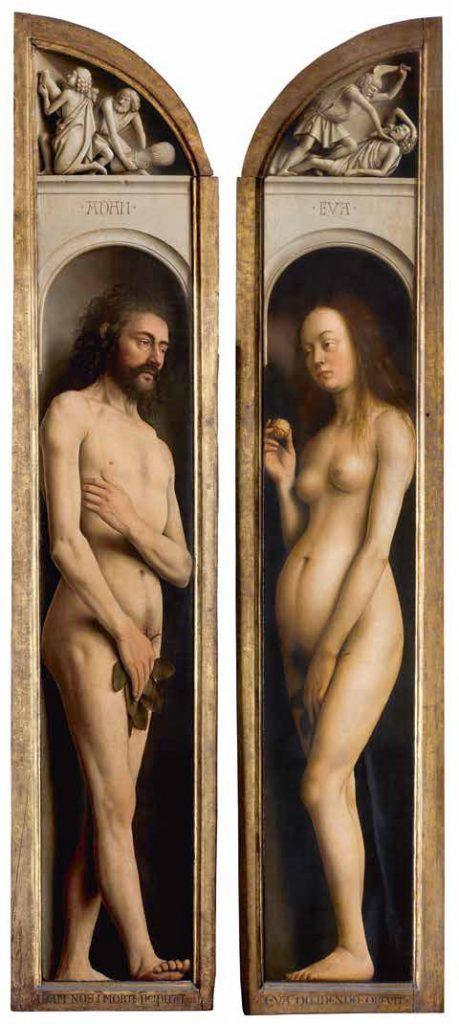Адам и Ева, Гентский алтарь, 1432