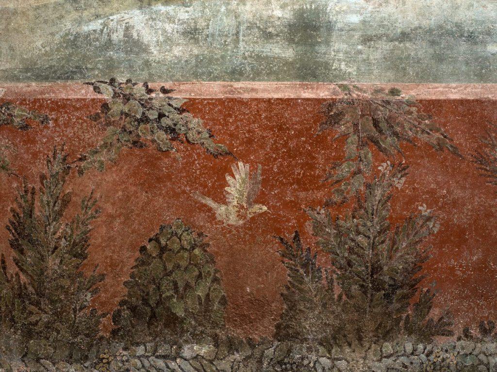 Фрагменты орнамента в нижней части фрески © POMPEII Sites