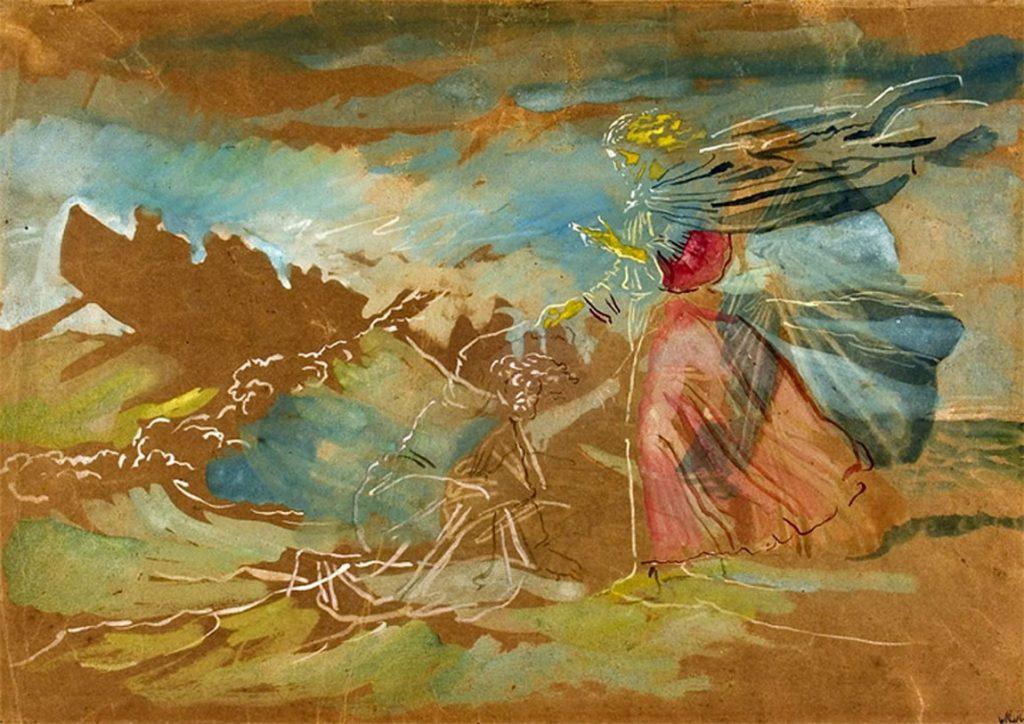 А.И. Иванов «Хождение по водам» (Христос спасает начавшего тонуть Петра), конец 1840-х — 1858 © ГТГ