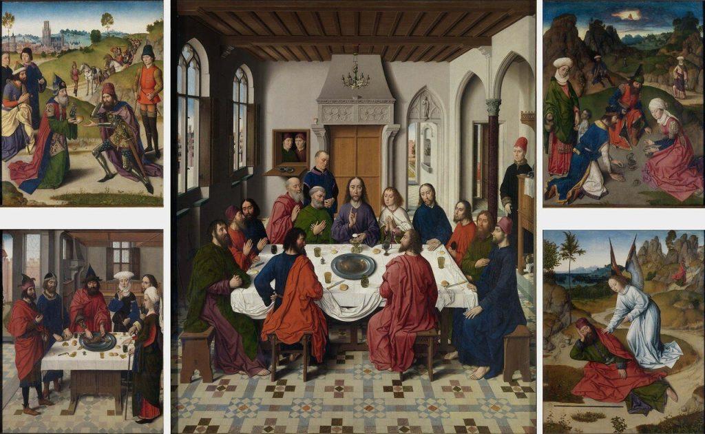 Дирк Баутс «Таинство Святого причастия», 1464–1467. Церковь Св. Петра, Лёвен (Бельгия) © leuvenbyair