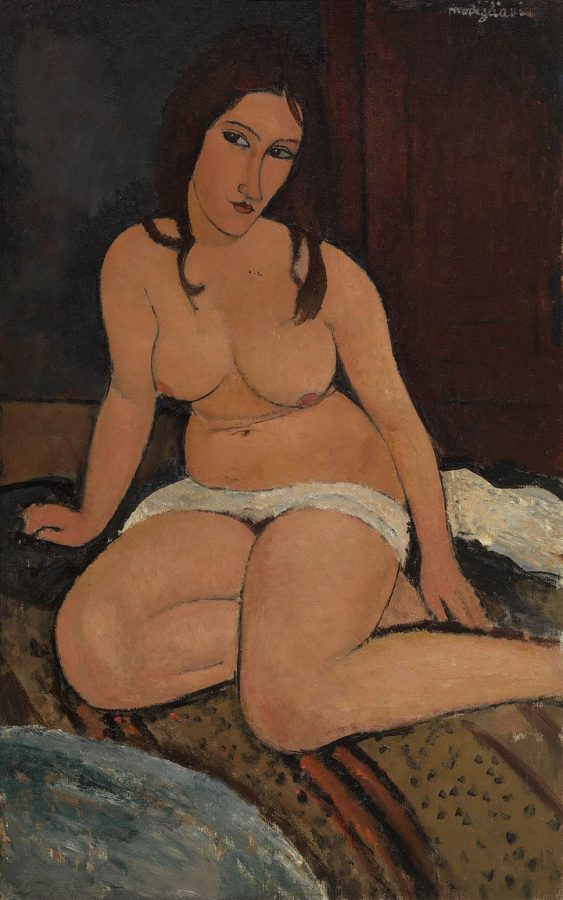 Амедео Модильяни «Сидящая обнаженная», 1917/ Koninklijk Museum voor Schone Kunsten © Albertina