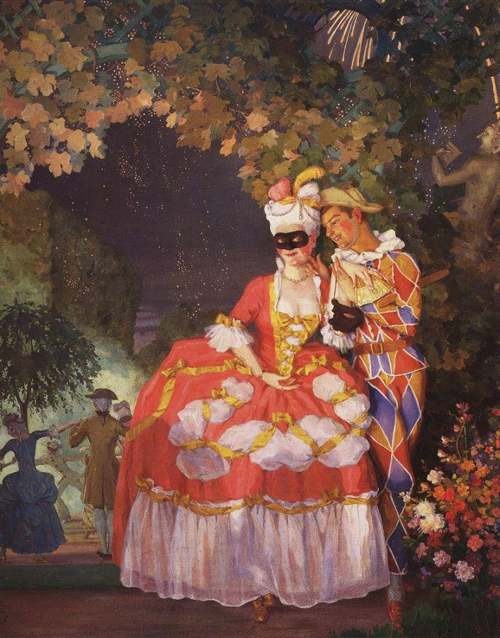 К.А. Сомов «Арлекин и дама», 1921 © ГРМ