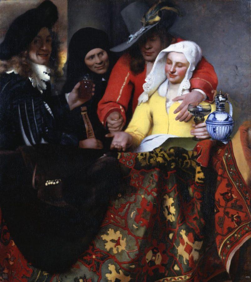 Johannes Vermeer «Bei der Kupplerin», 1656 © Dresden Old Masters Picture Gallery