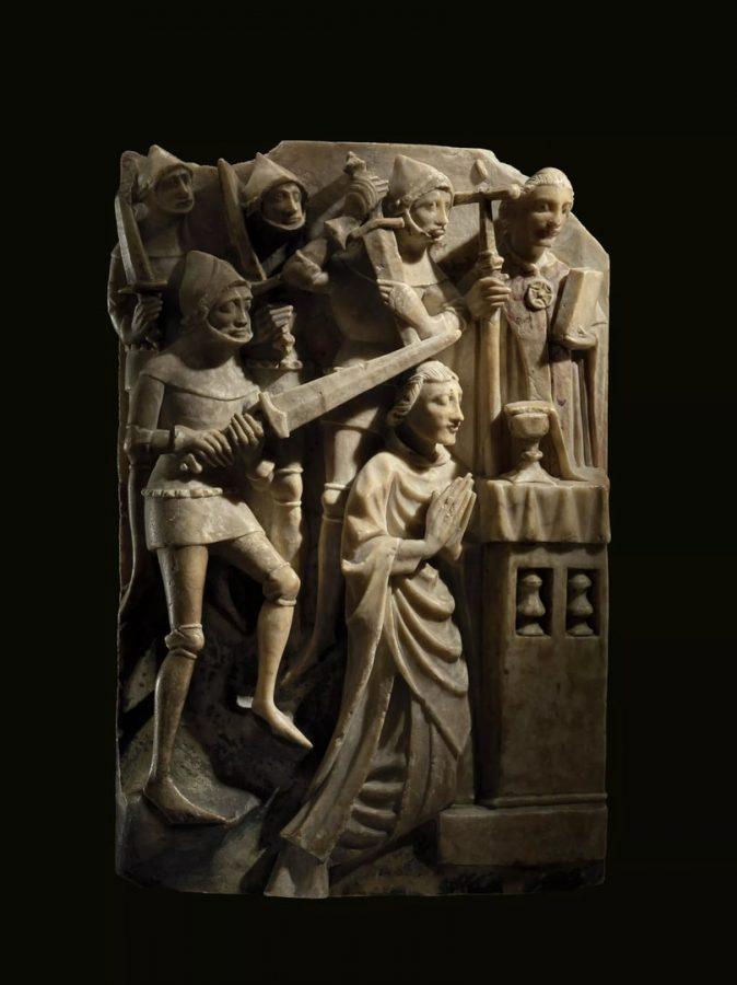 Алебастровая скульптура с изображением сцены убийства Томаса Беккета. Около 1450, Англия © British Museum