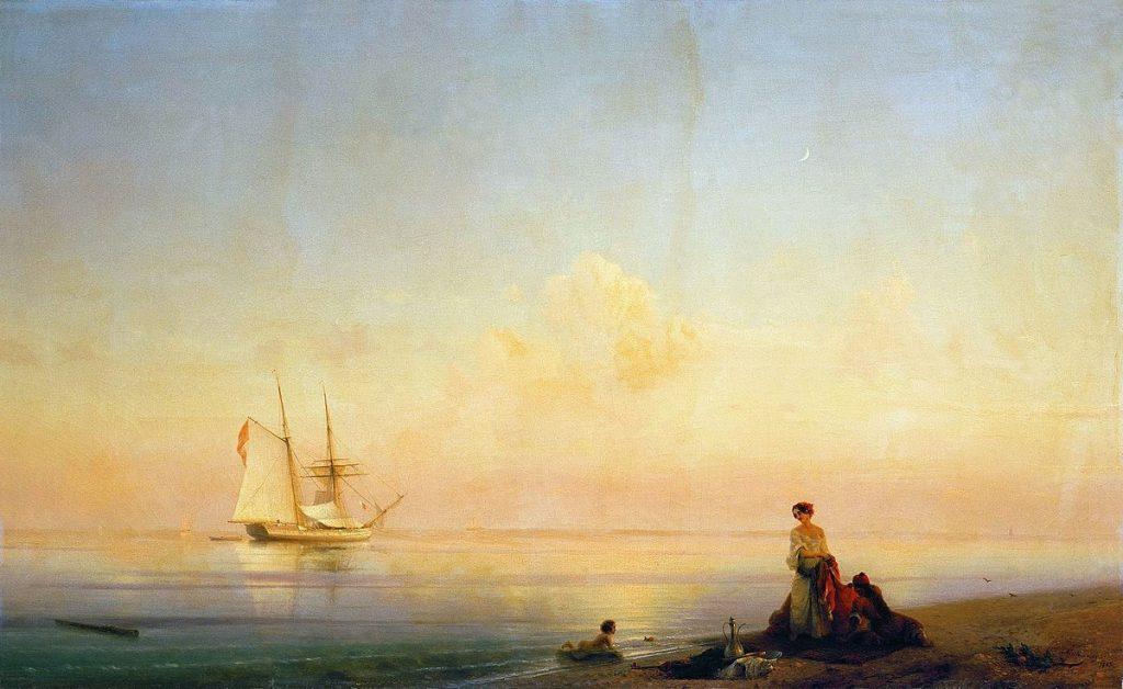 И.К. Айвазовский «Берег моря. Штиль», 1843 © ГРМ