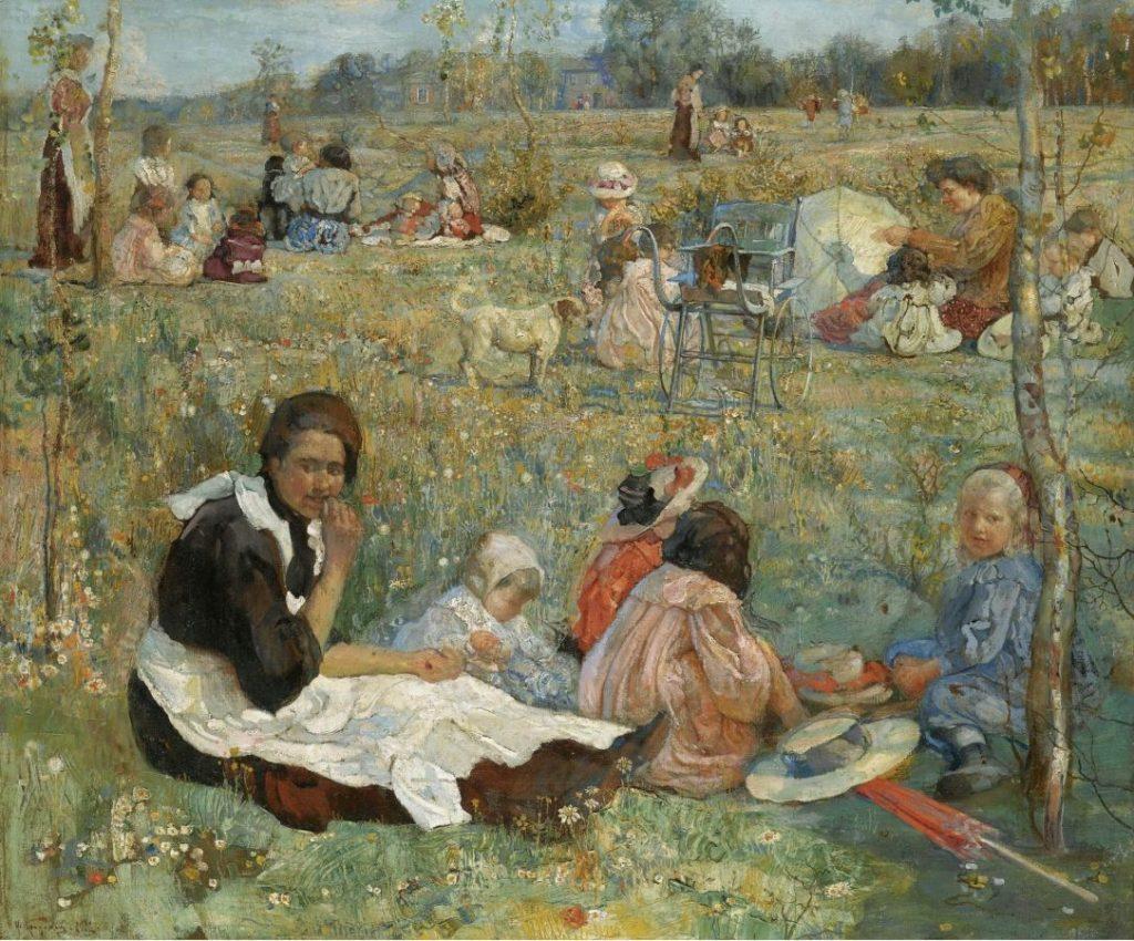 И.И. Бродский «Няня с детьми», 1912 Частная коллекция