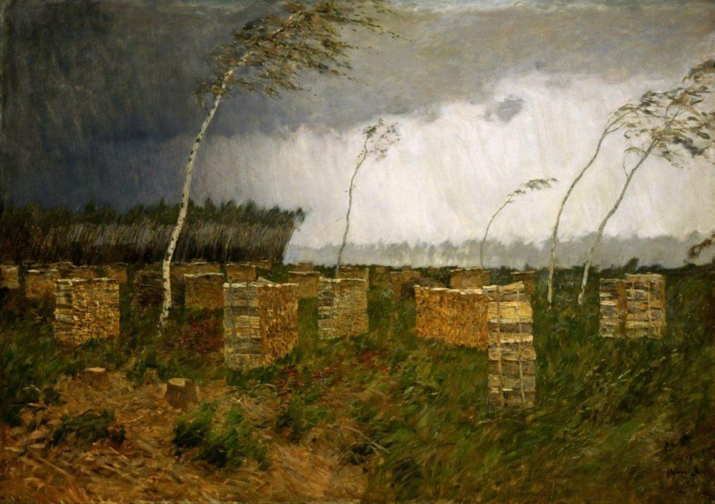 И.И. Левитан «Буря. Дождь», 1899 © Саратовский государственный художественный музей имени А.Н. Радищева