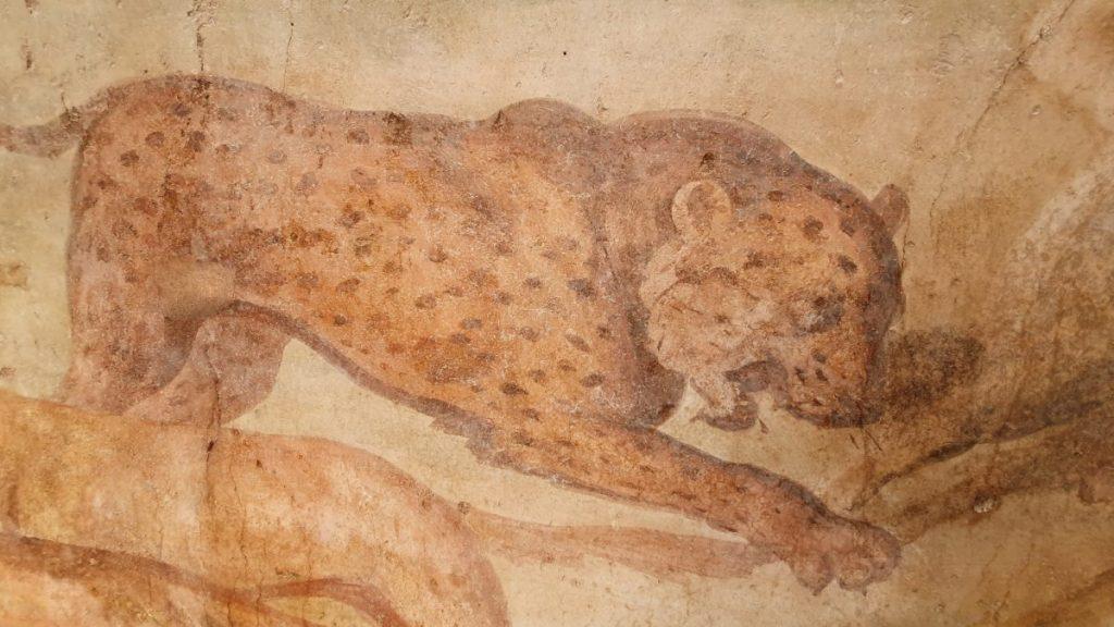 Фрагмент фрески в саду Casa dei Ceii в Помпеях © POMPEII Sites
