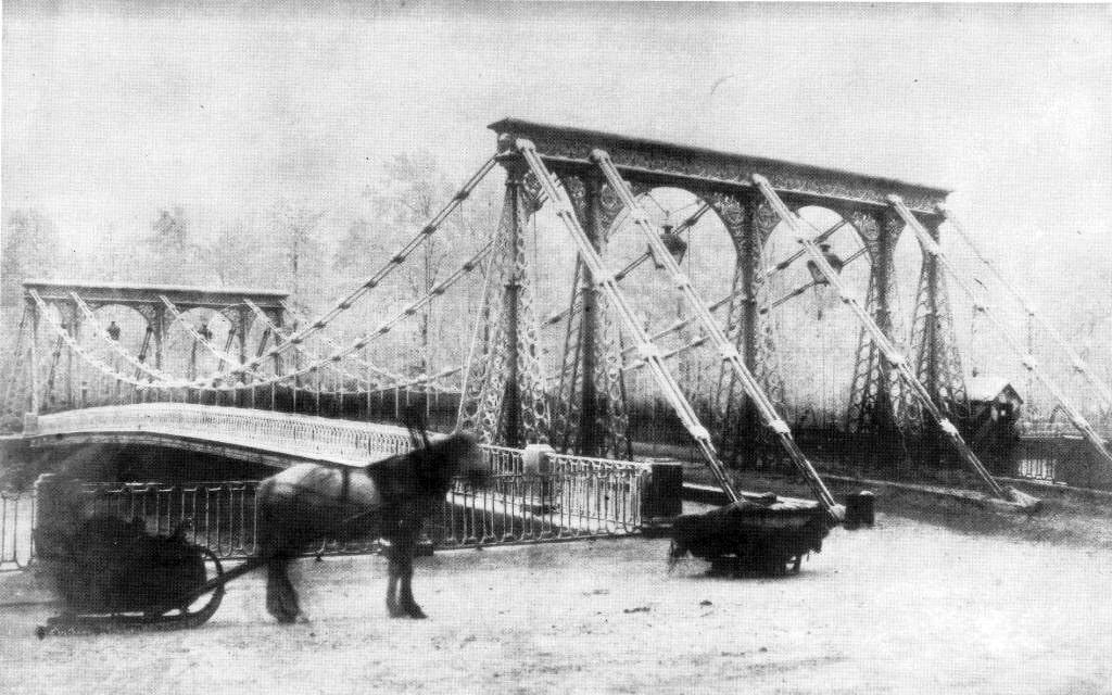 Цепной Пантелеймоновский мост, Санкт-Петербург, 1853 © pastvu