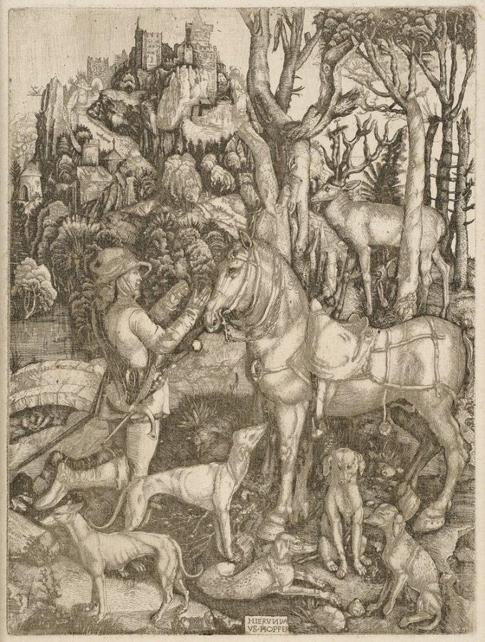 Альбрехт Дюрер «Святой Евстафий», ок. 1499-1503 Rijksmuseum