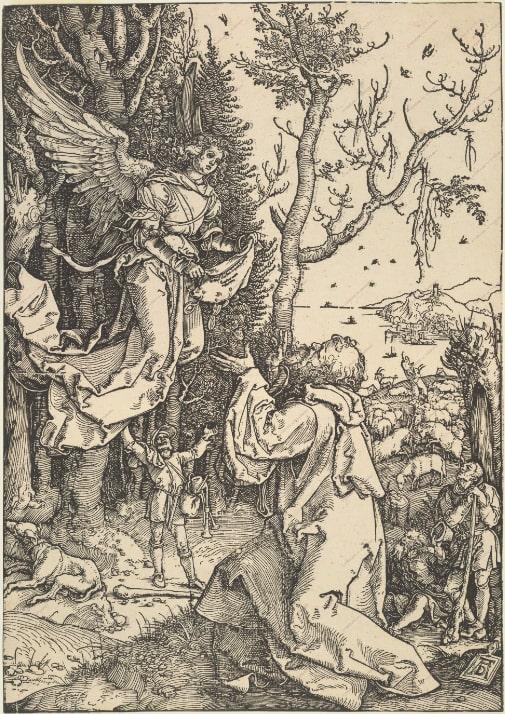 Альбрехт Дюрер «Явление ангела Иоакиму», ок. 1504 © ГМИИ им. А.С. Пушкина
