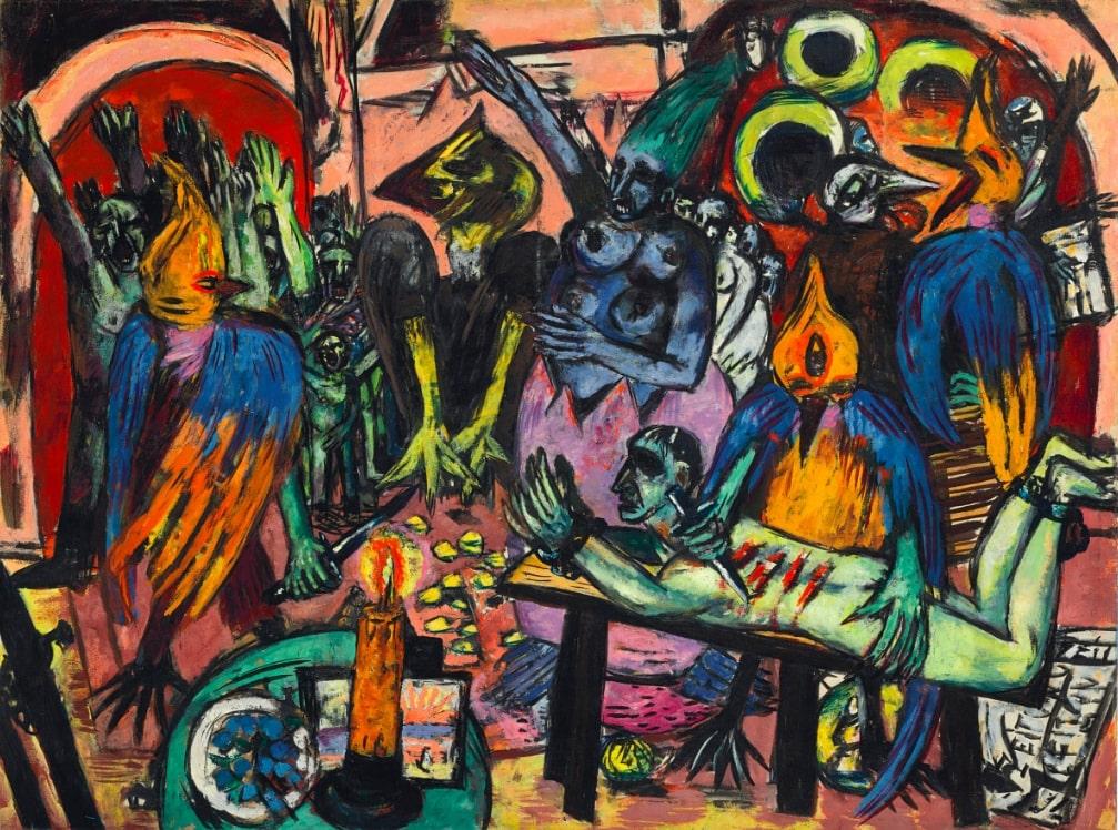 Макс Бекман «Hölle der Vögel», 1938. © Christie's