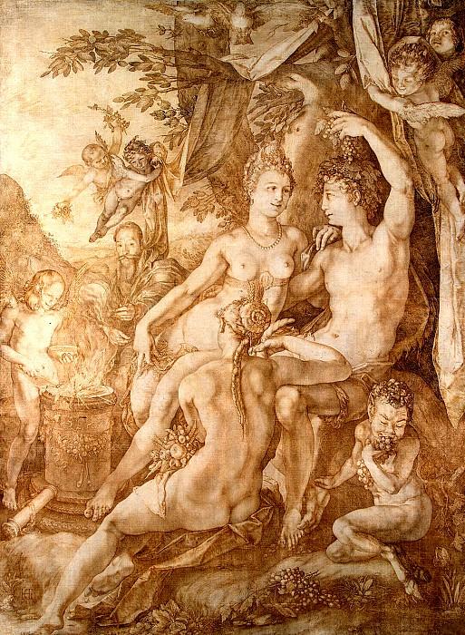 Хендрик Гольциус «Вакх, Венера и Церера», 1606