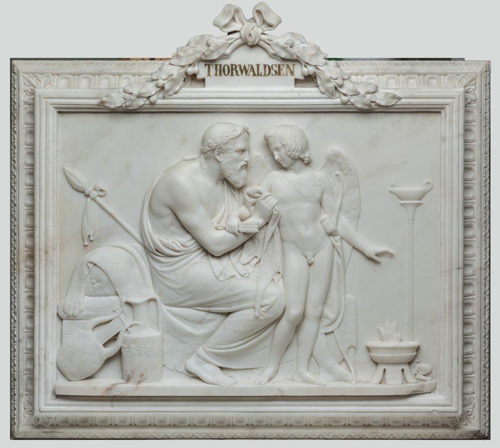 Бертель Торвальдсен «Амур у Анакреонта». Мрамор © Государственный Эрмитаж