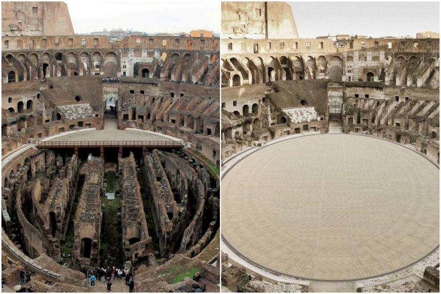 Так (на фото справа) будет выглядеть арена Колизея после реконструкции