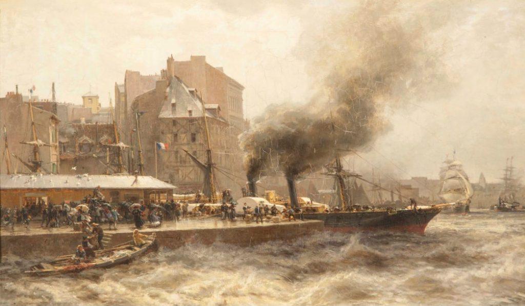 А.К. Беггров «Гавр. Вход в порт во время прилива», 1876 © ГРМ