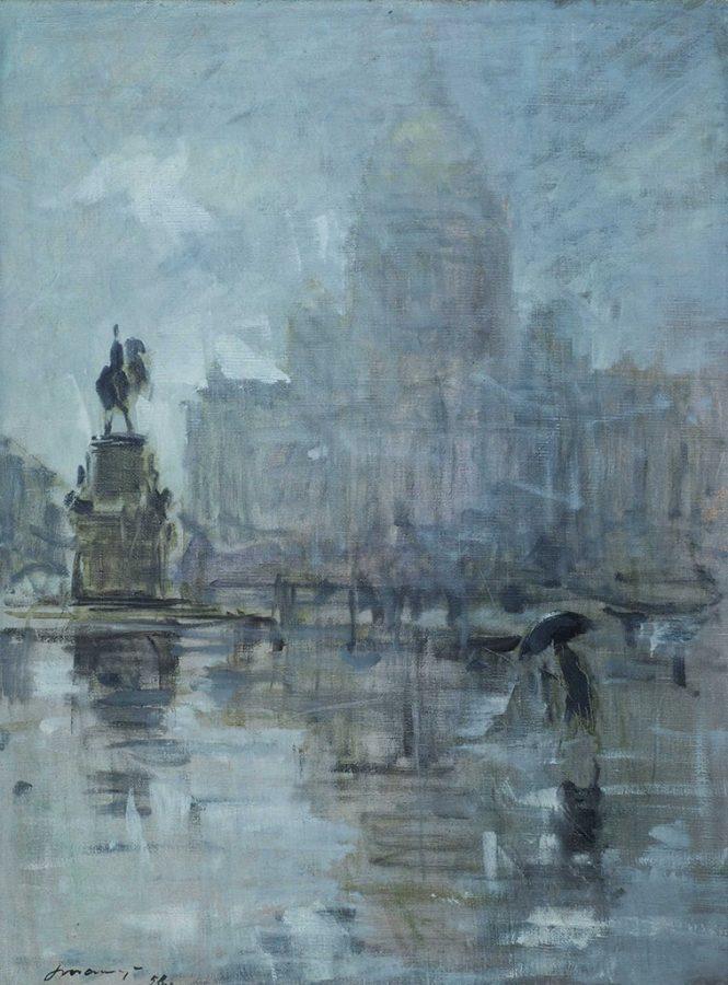 Георгий Татарников «Исаакиевская площадь», 1958. Холст, масло © МИСП