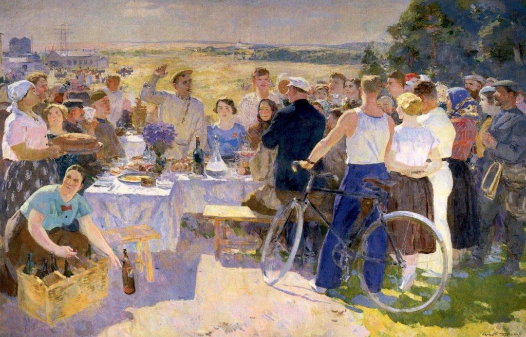 С.В. Герасимов «Колхозный праздник», 1937 © ИОХМ