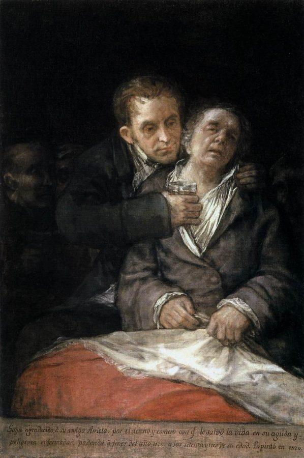 Франсиско Гойя «Гойю лечит доктор Арьетта», 1820 © Институт искусств, Миннеаполис