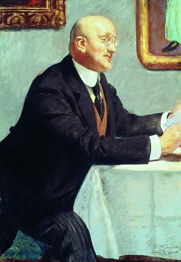 Б.М.Кустодиев «Портрет И.Э.Грабаря», 1916 © ГРМ