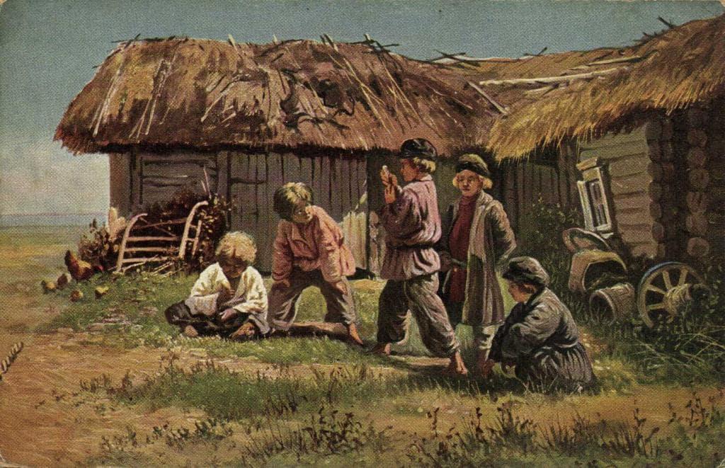 В. Е. Маковский «Игра в бабки», 1879 © Государственная Третьяковская галерея