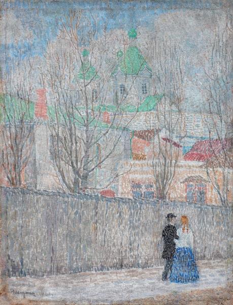 Н.И. Альтман «Весна», 1908. Частное собрание, Москва. Ранее: собрание А.Н. Володчинского, Москва