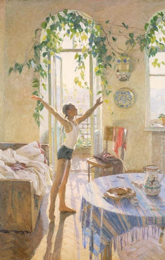 Т.Н Яблонская «Утро», 1954 © Государственная Третьяковская галерея
