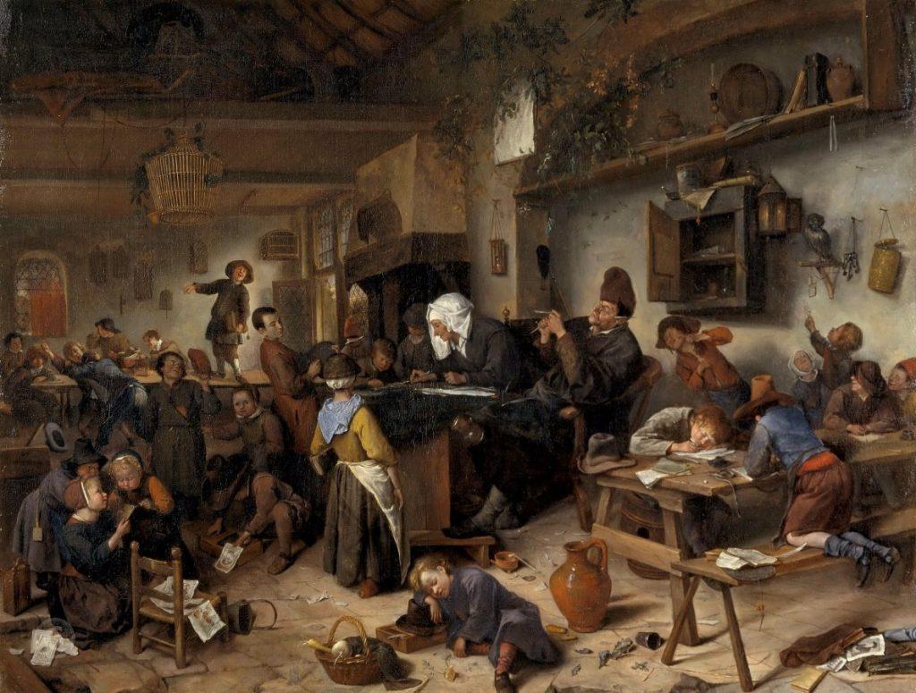 Ян Стен «Школа для мальчиков и девочек», 1670 © Национальная Галерея Шотландии, Эдинбург