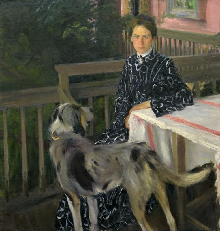 Б.М. Кустодиев «Портрет Ю.Е. Кустодиевой», 1903