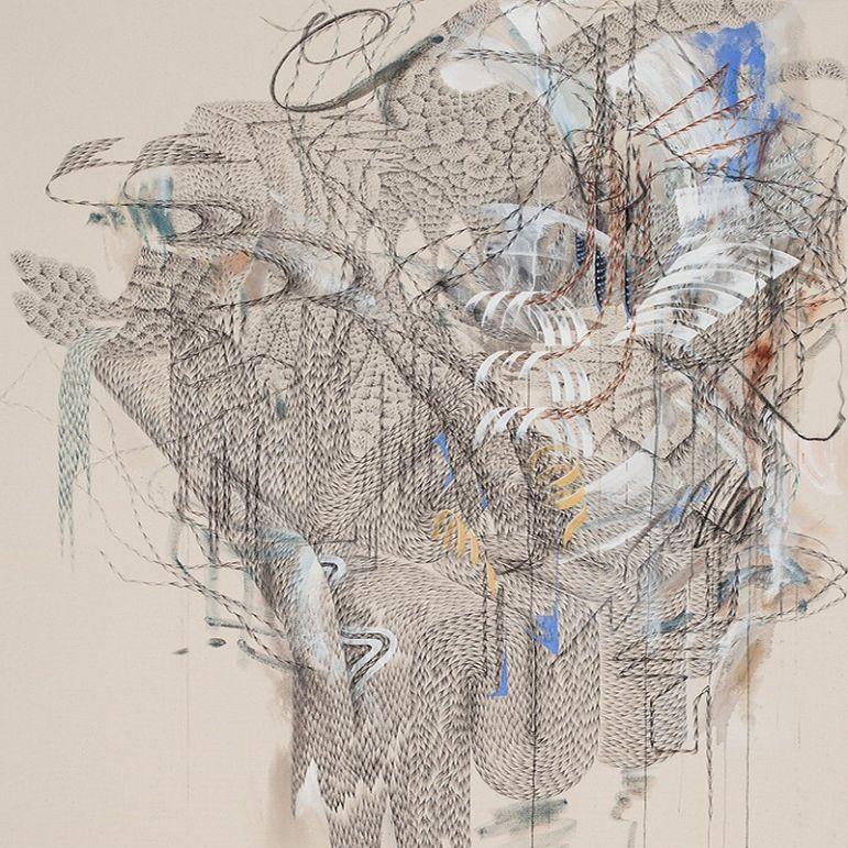 Юнген Чон на выставке «Живое вещество» © ГТГ