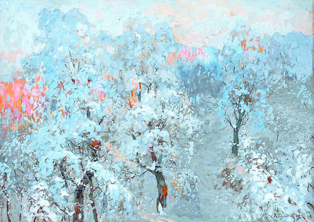 К.И. Горбатов «Деревья в зимнем серебре», 1909. © Серпуховский историко-художественный музей, 2021 © Пресс-служба музея «Новый Иерусалим»
