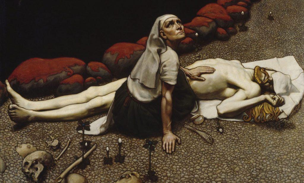 Аксели Галлен-Каллела «Мать Лемминкяйнен», 1897 © Ateneum