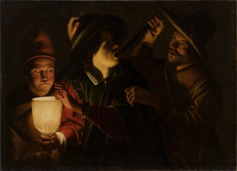 Трофим Биго «Ночное нападение», около 1620 © Государственный Эрмитаж