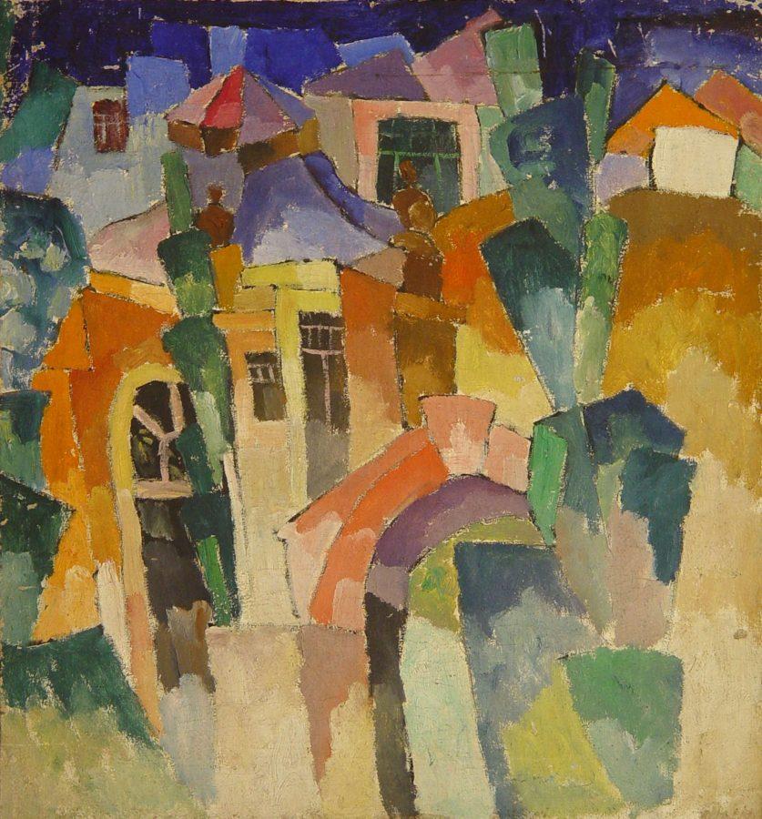А.В. Лентулов «Пейзаж», 1910-е