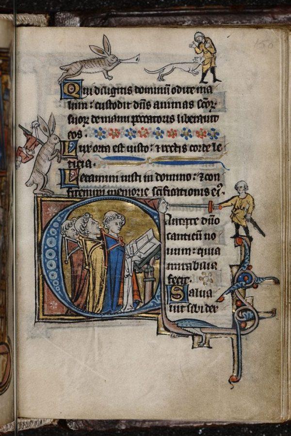 Страница из манускрипта XIII века © KBR