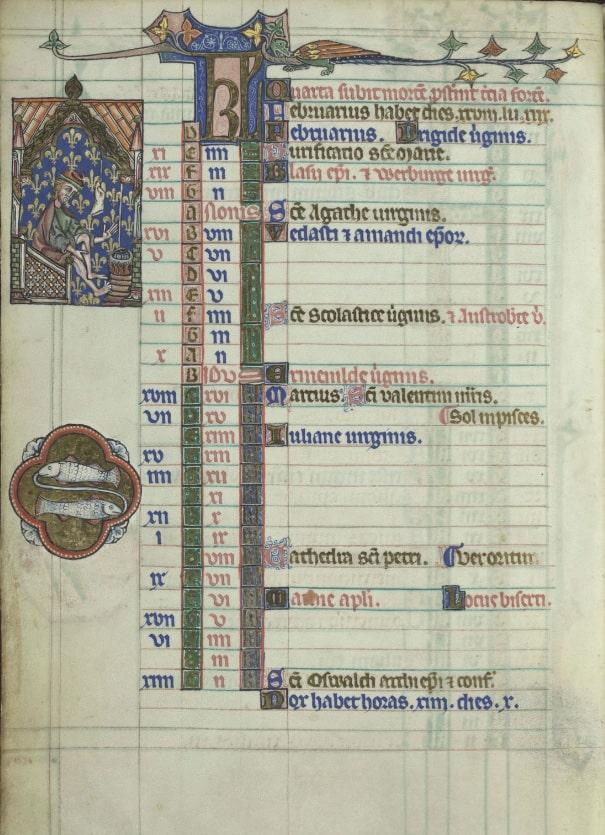 Средневековый календарь © KBR