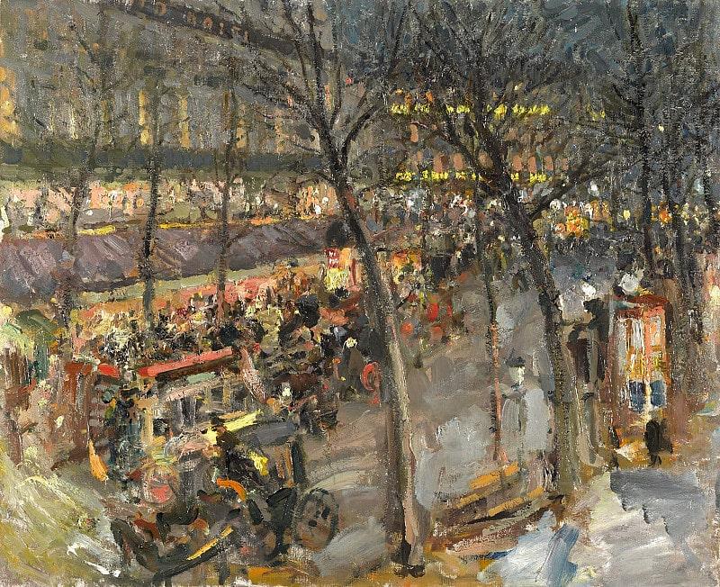 Константин Коровин «Париж. Кафе де ля Пэ», 1906 © Государственная Третьяковская галерея