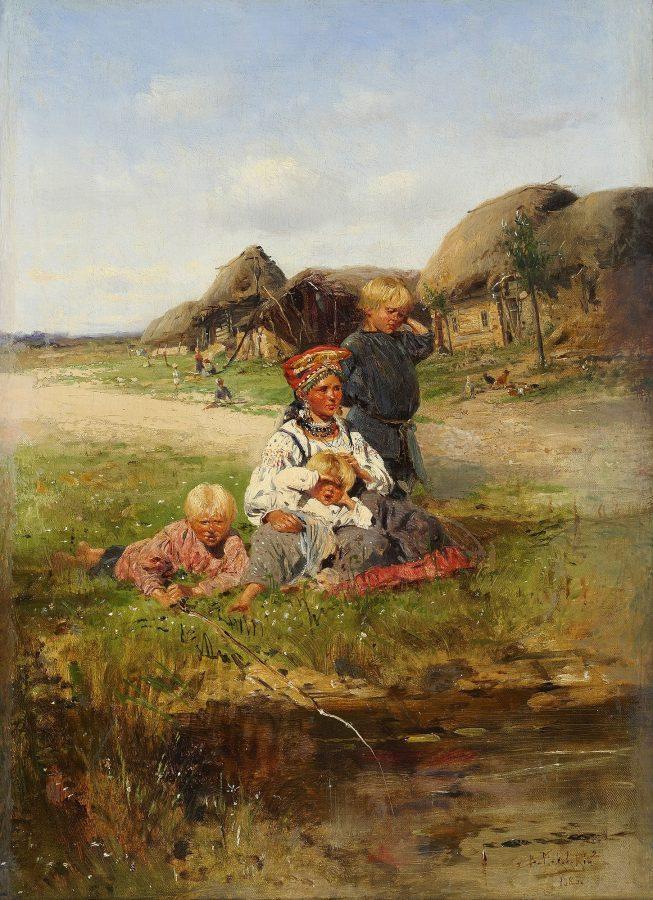 В. Е. Маковский «Крестьянка с детьми», 1883 © Екатеринбургский музей изобразительных искусств