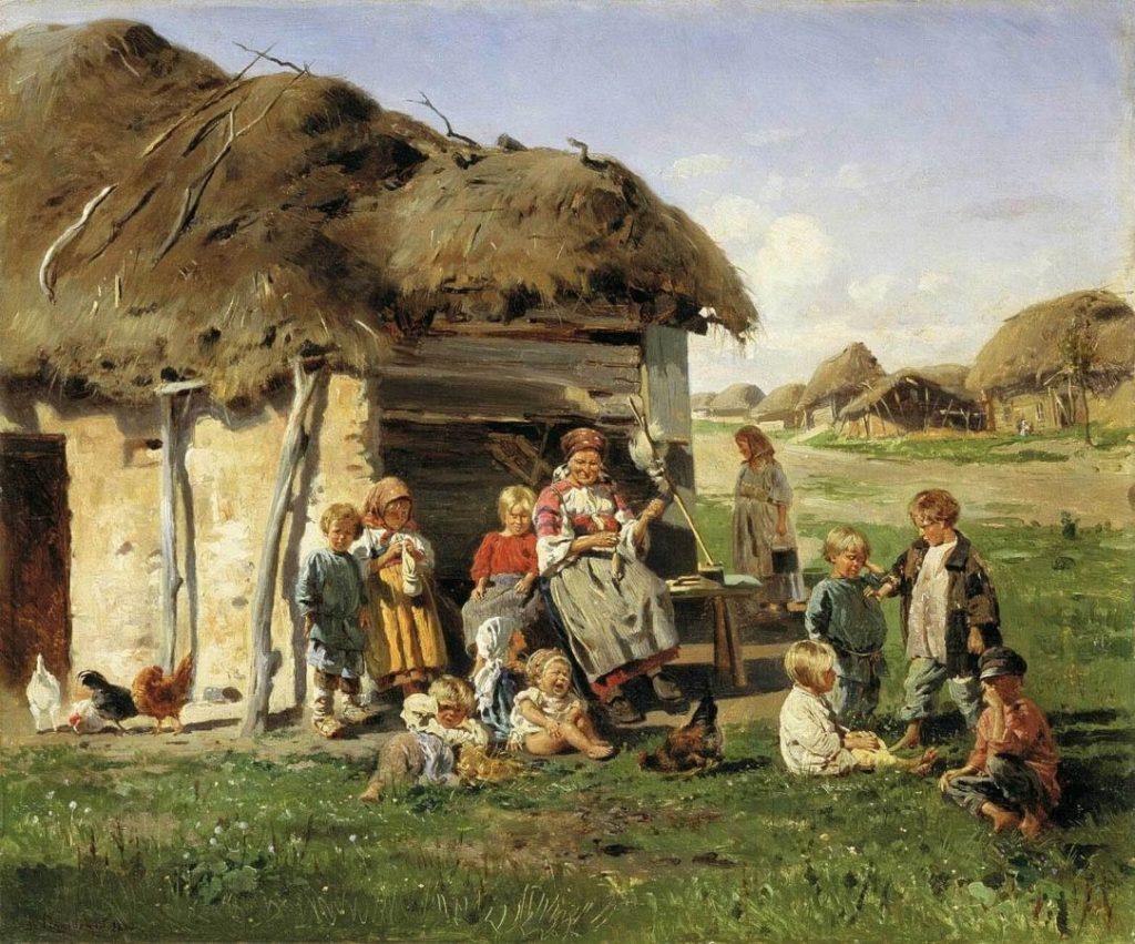 В. Е. Маковский «Крестьянские дети», 1890 © Харьковский художественный музей