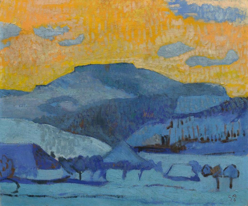 Куно Амье «Зимний пейзаж» Musée d'Orsay
