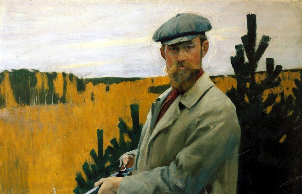 Б.М. Кустодиев «Автопортрет (На охоте)», 1905