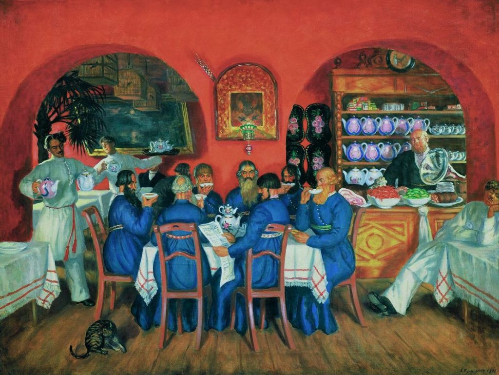 Б.М. Кустодиев «Московский трактир», 1916 © ГТГ