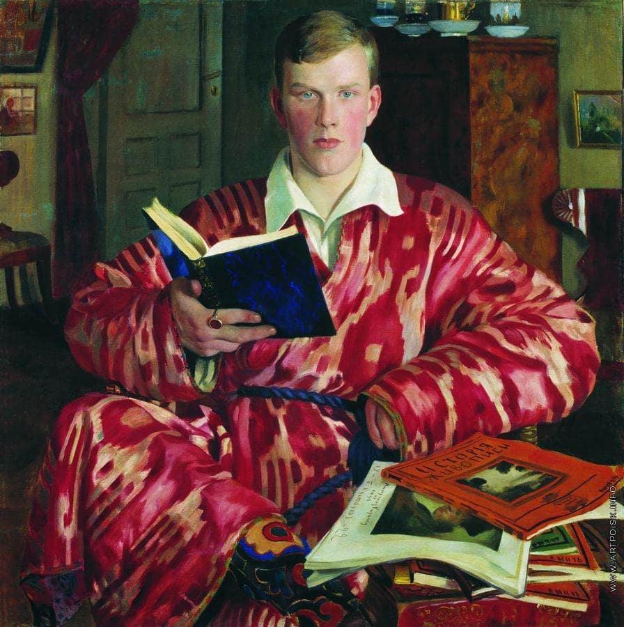 Б.М. Кустодиев «Портрет К.Б. Кустодиева», 1922