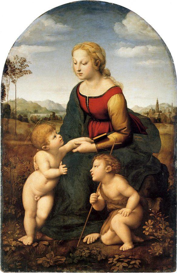 Рафаэль Санти «Мадонна с Младенцем и Иоанном Крестителем», 1507-1508 © Лувр, Париж