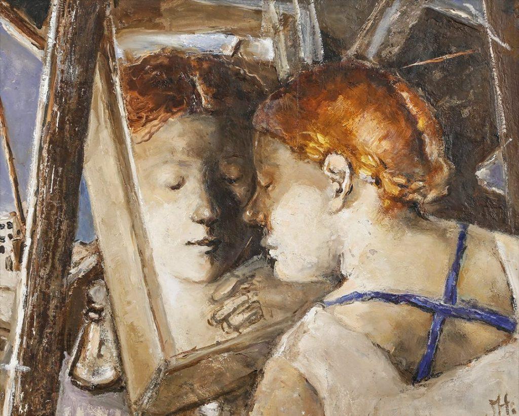 Лариса Наумова «У зеркала», 2012.