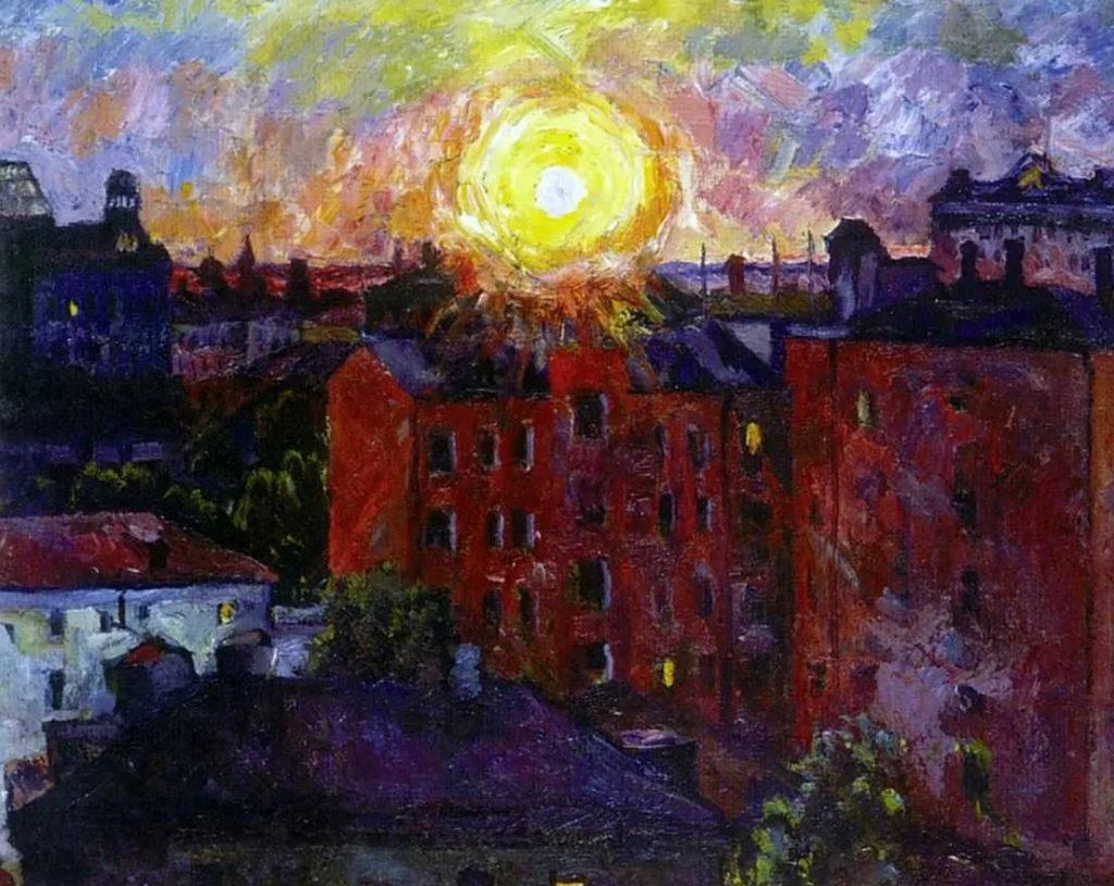 А.В. Лентулов «Солнце над крышами», 1928 © ГРМ