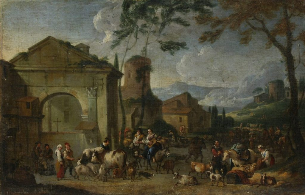 Йохан Лингельбах «У городских ворот», XVII век