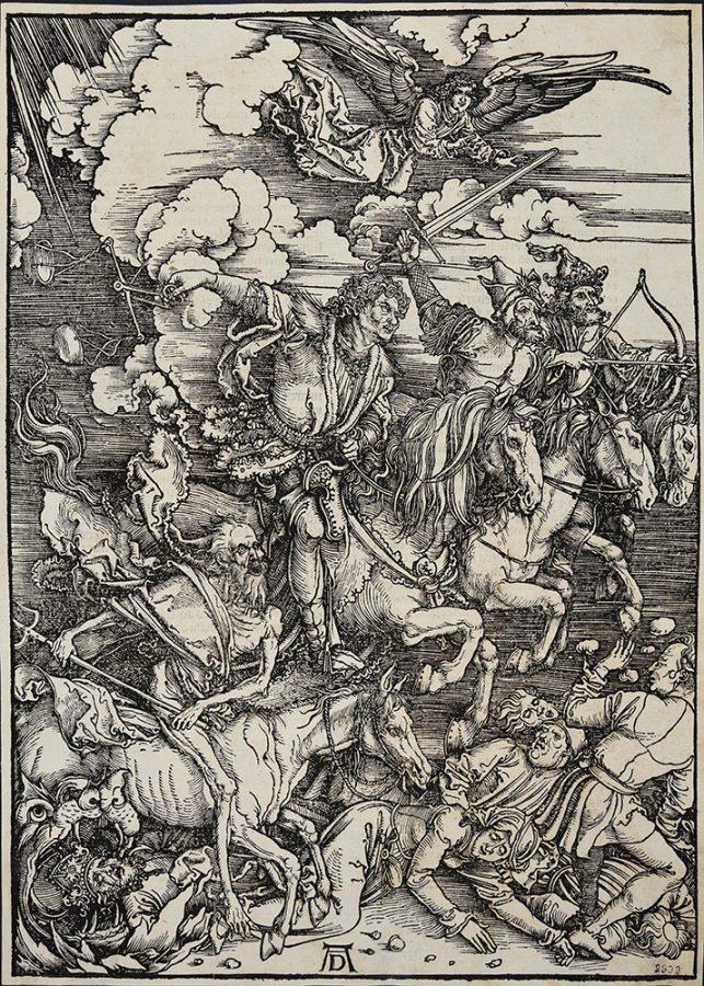 Альбрехт Дюрер «Четыре всадника Апокалипсиса». Германия, Нюрнберг, 1496-1498 Пинакотека Тозио Мартиненго © ГИМ