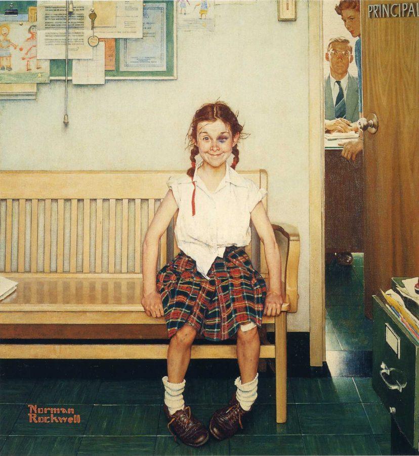 Норман Роквелл «Девочка с синяком под глазом», 1953 © Музей Нормана Роквелла, Стокбридж